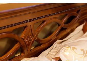 Двуспальная кровать «Валенсия 2М» П254.51 (каштан)