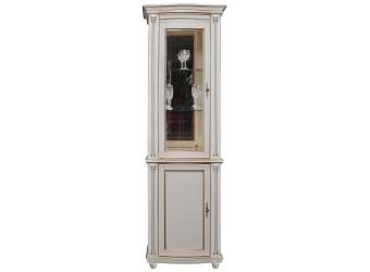 Шкаф-витрина для гостиной «Валенсия 1.1з» П244.14.1 (античная темпера с золотом)