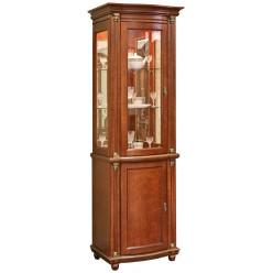 Шкаф-витрина для гостиной «Валенсия 1.1з» П244.14.1 (каштан)