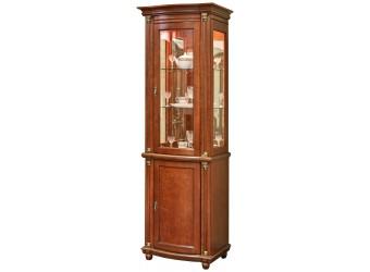 Шкаф-витрина для гостиной «Валенсия 1з» П244.14 (каштан)