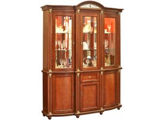 Шкаф-витрина для гостиной «Валенсия 3з» П244.11 (каштан)