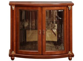 Тумба-витрина «Валенсия 2з» П244.28 (каштан)