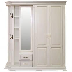 Шкаф комбинированный для прихожей «Верди Люкс 1» П433.01 (слоновая кость)