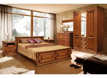 Спальня «Верди Люкс» 3 (дуб рустикаль с патинированием)