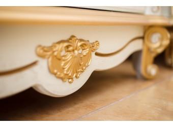 Гостиная «Алези Люкс» (слоновая кость с золочением)