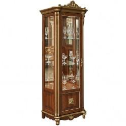 Шкаф с витриной «Алези 8 Люкс» П350.08-01л (античная бронза)
