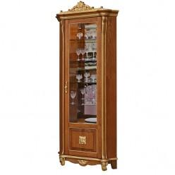 Шкаф с витриной «Алези 10 Люкс» П350.13л (античная бронза)