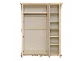 Шкаф 3-х дверный Алези П349.01 (слоновая кость с золочением)