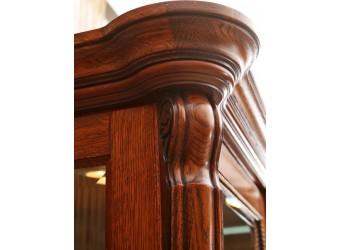 Шкаф-витрина «Алези 8» П 350.08 (античная бронза)