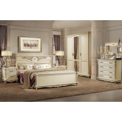 Спальня  «Алези №2» (слоновая кость с золочением)