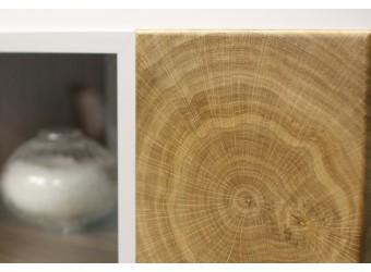 Гостиная Гелиос (дуб вотан/белый глянец) вариант 4
