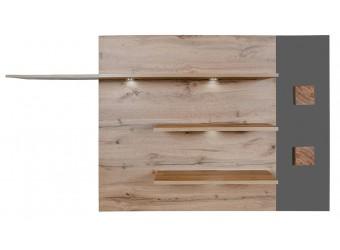 Гостиная Гелиос (дуб вотан/серый глянец) вариант 5