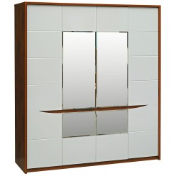Шкаф для одежды «Монако» П528.01 (дуб саттер/белый глянец)