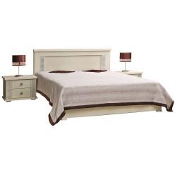 Кровать двойная «Тунис» П344.05 (слоновая кость с серебром)