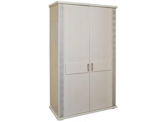 Шкаф для одежды «Тунис» П344.06 (слоновая кость с серебром)