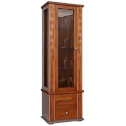 Шкаф с витриной «Тунис» П343.19Ш (медовый с золочением)