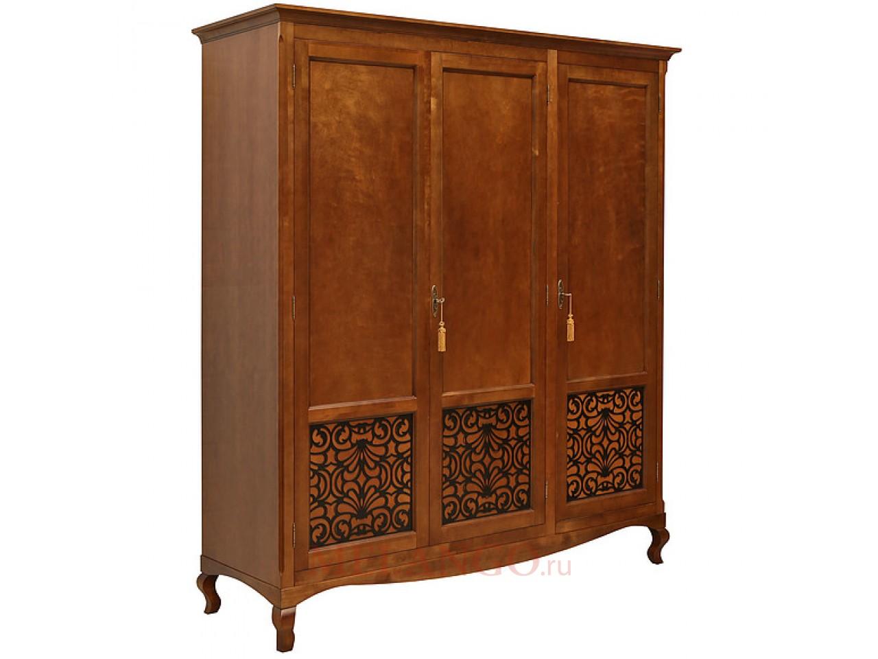 Трехстворчатый шкаф Видана для спальни «Видана Люкс» П445.01 (коньяк)