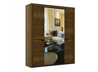 Четырехстворчатый шкаф для одежды Г-12 (ДГТ) Гарда с зеркалом