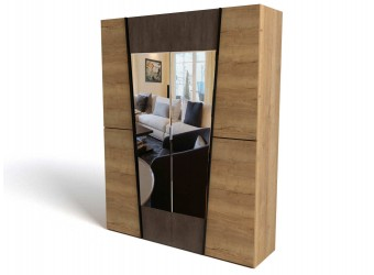 Четырехстворчатый шкаф для одежды СС-12 Стреза с зеркалом
