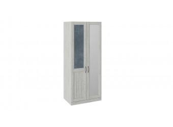Шкаф для одежды с 1 глухой и 1 зеркальной дверью левый «Кантри» (Замша синяя/Винтерберг) СМ-308.07.021L (з)