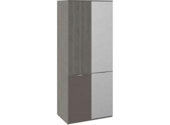 Шкаф для одежды с 1 зеркальной дверью и 1 с ЛКП «Либерти» (Хадсон/Фон Серый) СМ-297.07.026