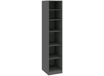 Шкаф с 1-й зеркальной дверью левый «Наоми» (Фон серый, Джут) СМ-208.07.02 L