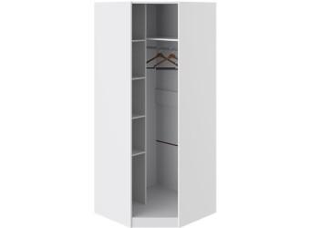 Шкаф угловой с 1-й зеркальной левой дверью «Наоми» (Белый глянец) СМ-208.07.07 L