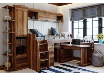 Набор детской мебели «Навигатор» 5 (Дуб Каньон) ГН-250.005