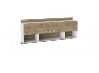 Шкаф настенный «Оксфорд» (Ривьера/Белый с рисунком) ТД-139.12.21