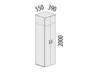 Двухстворчатый шкаф для одежды Альфа 61.43