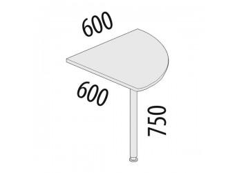 Угловая приставка для стола Альфа 62.12