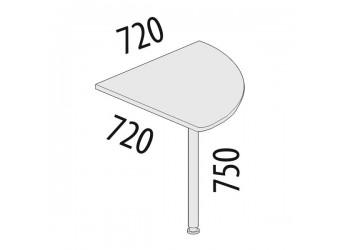 Угловая приставка для стола Альфа 62.13