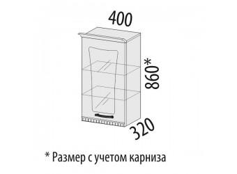 Шкаф-витрина кухонный навесной Афина 18.04