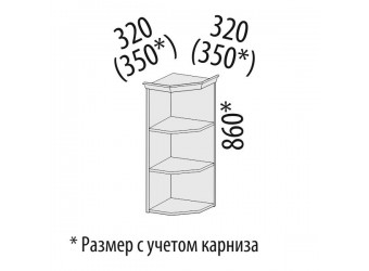 Шкаф кухонный угловой Афина 18.18 (торцевой)