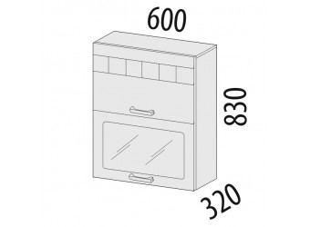 Шкаф-витрина кухонный навесной Аврора 10.08