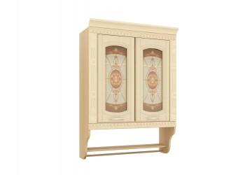 Шкаф-витрина кухонный навесной Глория 03.11 с колоннами