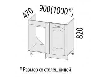 Шкаф под мойку угловой Глория 03.52.1