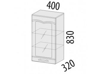 Шкаф-витрина кухонный навесной Каролина 11.04