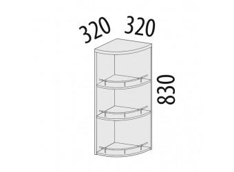 Шкаф кухонный угловой Каролина 11.18 (торцевой)