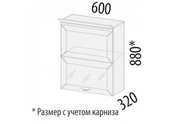 Шкаф-витрина Оливия 71.80 (с системой плавного закрывания)