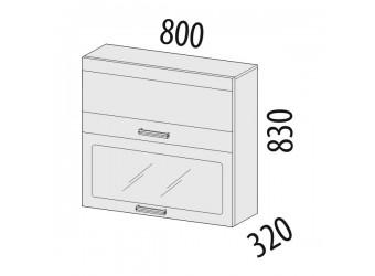 Шкаф-витрина кухонный навесной Палермо 08.09