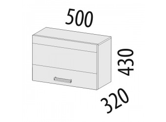 Шкаф кухонный над вытяжкой Палермо 08.12