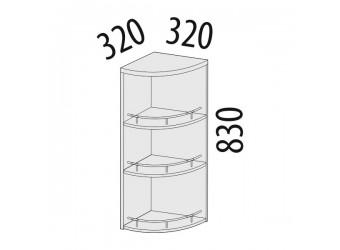 Шкаф кухонный угловой Палермо 08.18 (торцевой)