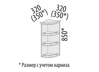 Шкаф кухонный угловой Тиффани 19.18 (торцевой)