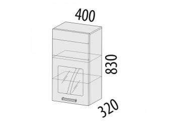 Шкаф-витрина кухонный навесной Тропикана 17.04