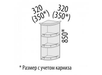 Шкаф кухонный угловой Виктория 20.18 (торцевой)