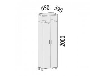 Двухстворчатый шкаф для одежды Лидер 82.11