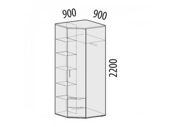 Угловой шкаф для одежды Мегаполис 55.03 правый
