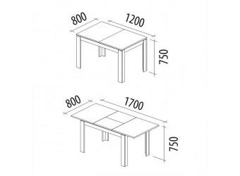 Раздвижной обеденный стол Орфей 14.13 дуб венге, клен танзай
