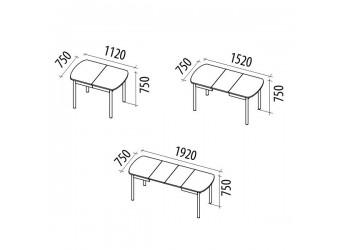 Раздвижной обеденный стол Орфей 28 стоун браун